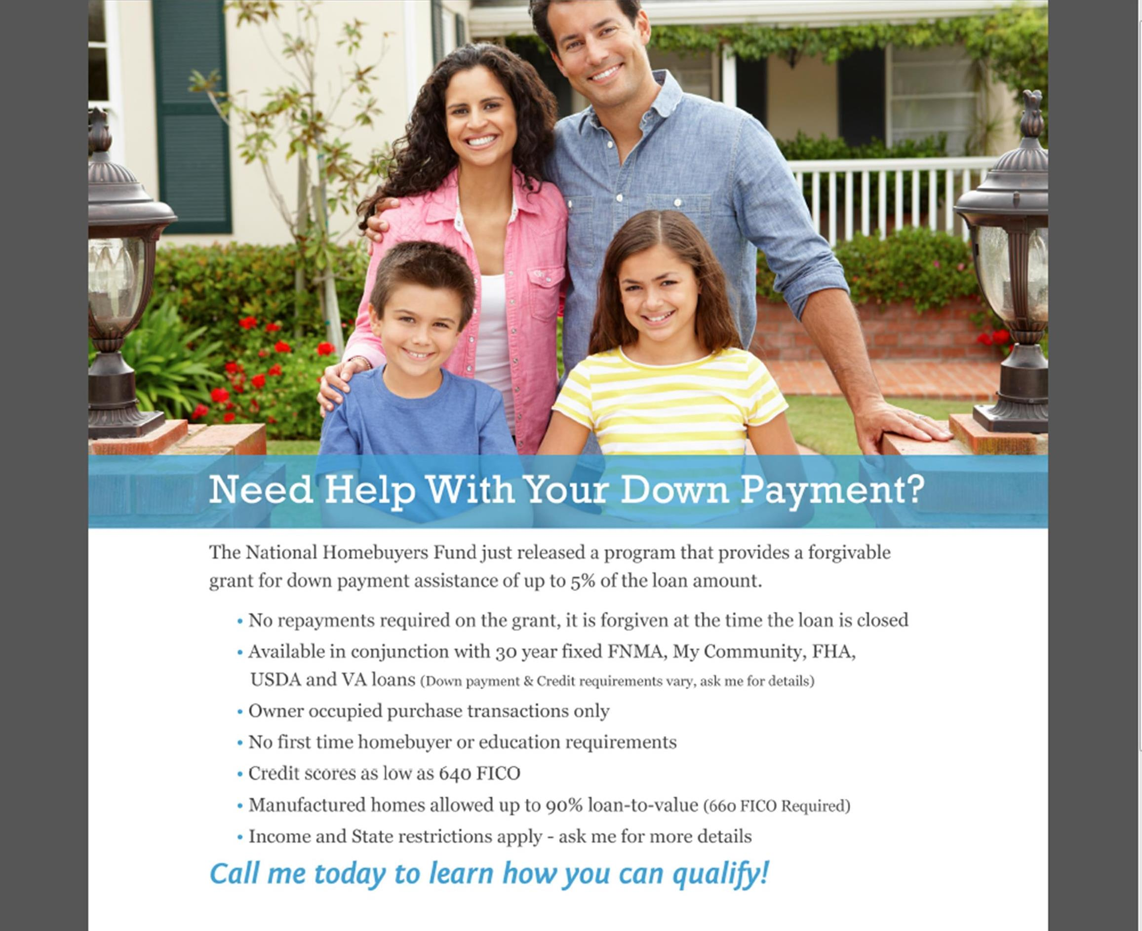 Help With DownPayment